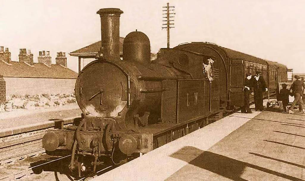 Steam train at Sutton Oak station, St.Helens