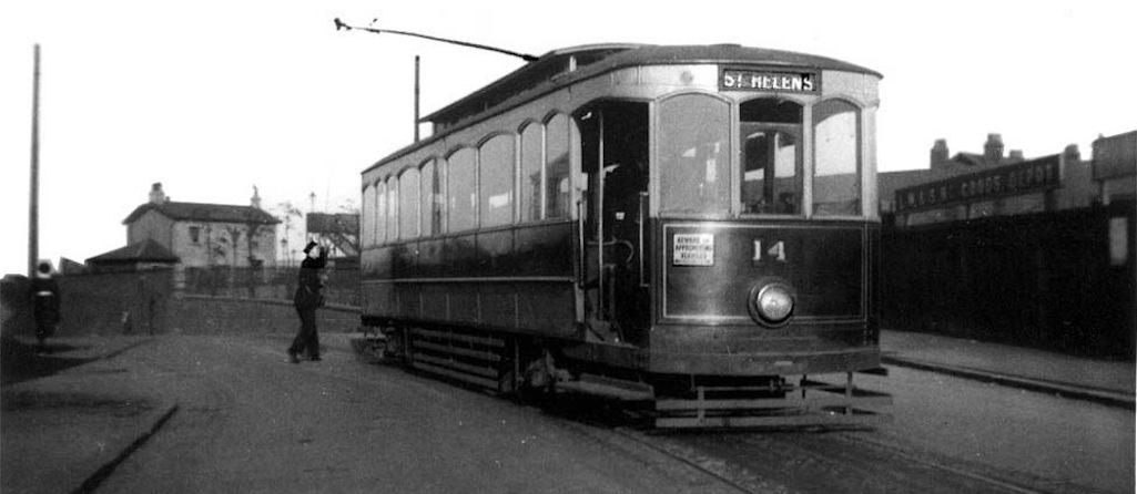 Tram at St.Helens Junction