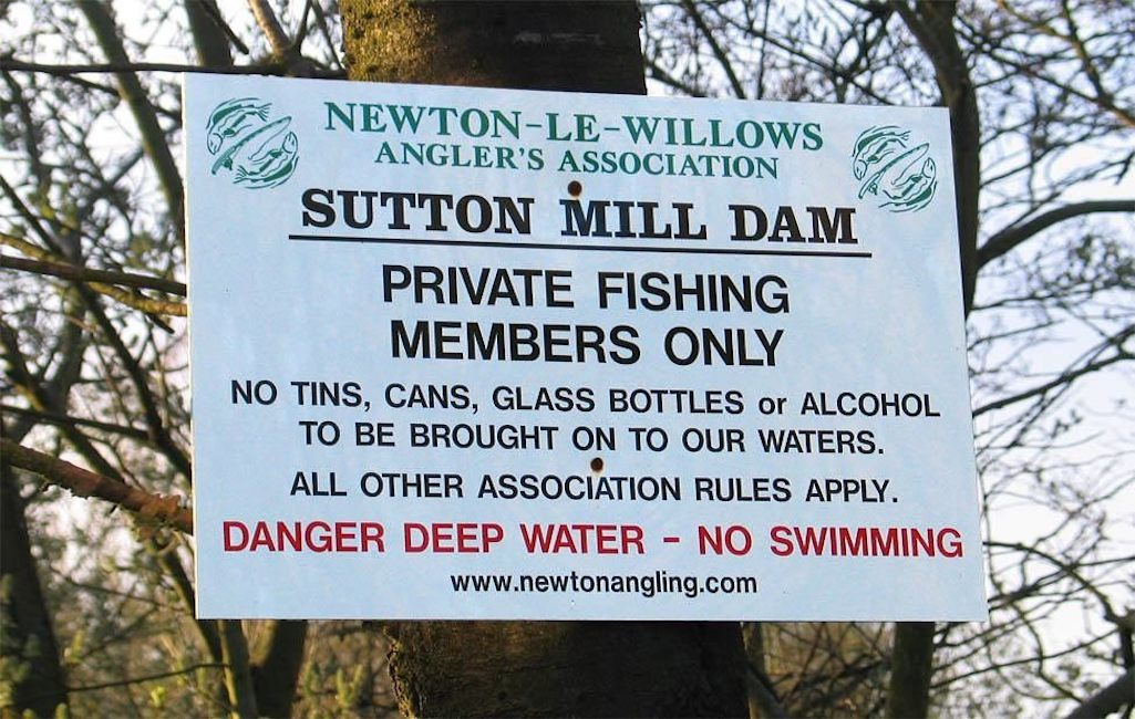 Newton-Le-Willows Anglers Association Sutton Mill Dam fishing