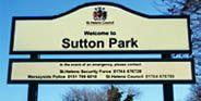 Sutton Park sign St.Helens